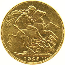 England – Sovereign 1925 George V - gold