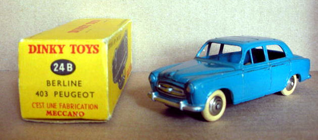 Dinky toys france chelle 1 43 peugeot 403 berline no for Garage peugeot chelles