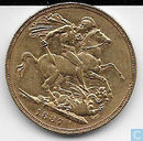 Australia 1 sovereign 1887 (S)
