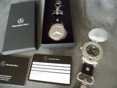 Mercedes-Benz - key chain with spring cover pocket watch