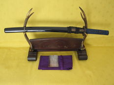 Antique Japanese sword in koshirae (wakizashi), Edo period (17-e/18-th century).