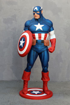 Captain America - Statue - fiberglass - 190cm high - statue of Captain America