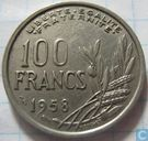France 100 francs 1958 (with B)