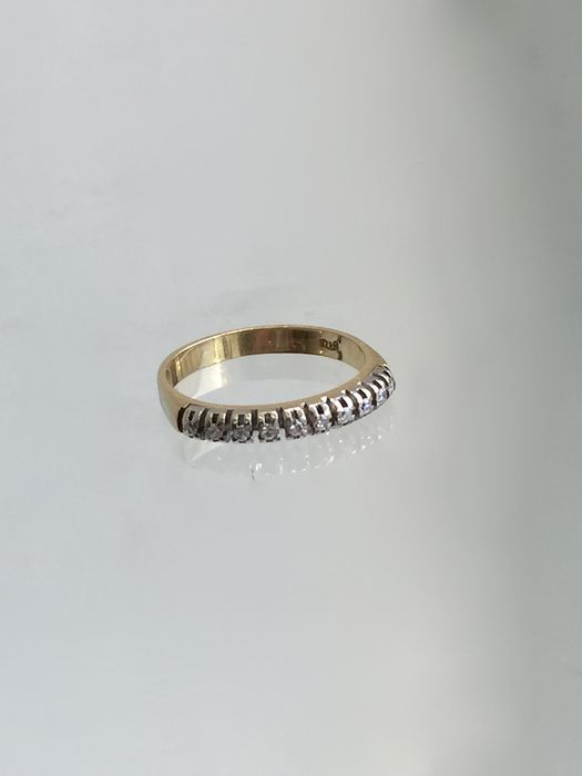 18K Gold riviera ring with 10 diamonds 0.20 ct - 51 (EU)