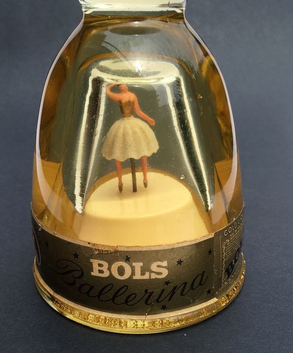 Gold Liqueur bottle of Lucas Bols with real gold leaf and