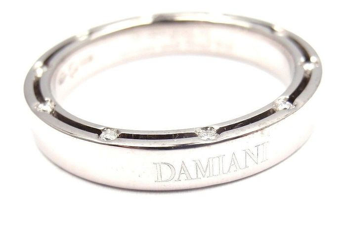 damiani wedding ring by brad pitt � 18 kt white gold with