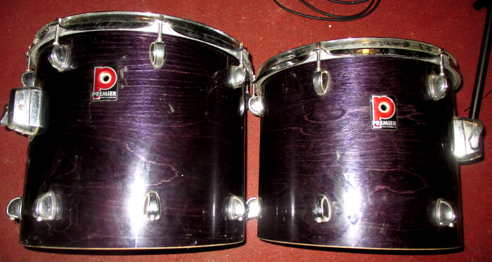 2 toms for battery premier 4 used drum heads catawiki. Black Bedroom Furniture Sets. Home Design Ideas