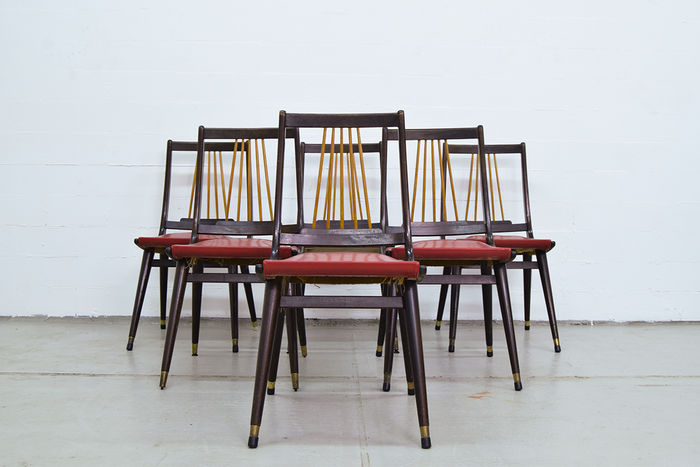 Maker unknown 6 dining room chairs catawiki for Dining room furniture auctions
