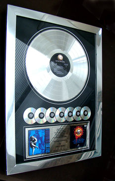 "Guns N Roses"" Use your Illusion ll"" 7 million copies award"