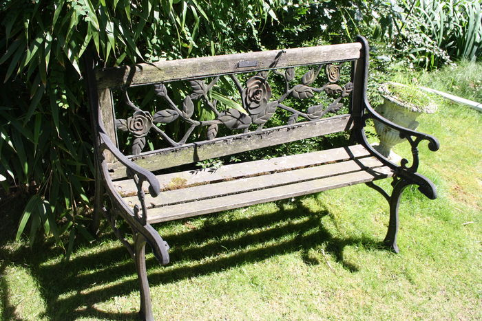 Tremendous A Cast Iron And Wooden Garden Bench Netherlands Second Squirreltailoven Fun Painted Chair Ideas Images Squirreltailovenorg