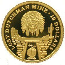 Cook Islands – 10 Dollars 2006 'The Lost Dutchman Mine' – gold