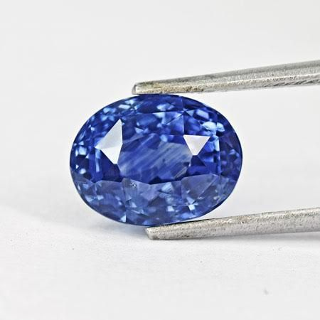 oval natural details quality loose untreated profile genuine sapphire cornflower fine blue for unheated aaa
