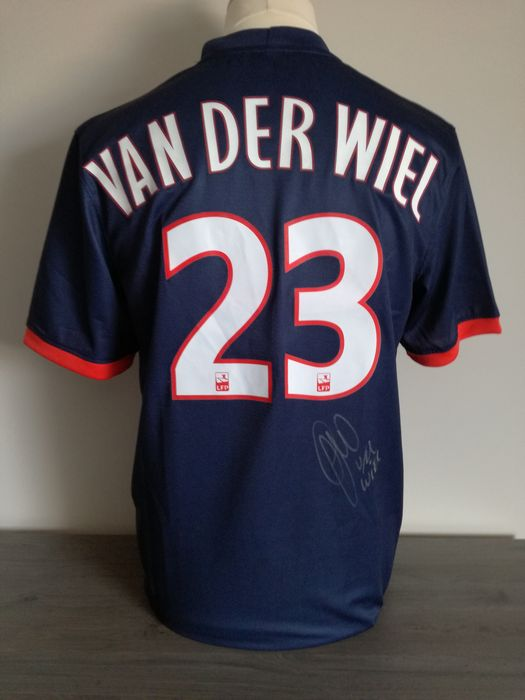 Hand signed Paris Saint Germain home shirt 2014-2015 Gregory Van Der Wiel +  COA 14210a46d