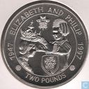 "Alderney 2 pounds 1997 ""50th Anniversary of the Wedding of Queen Elizabeth II and Prince Philip"""