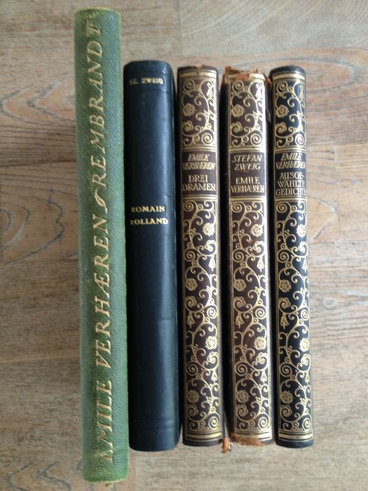 Lot With 5 Editions From Stefan Zweig About Emile Verhaeren