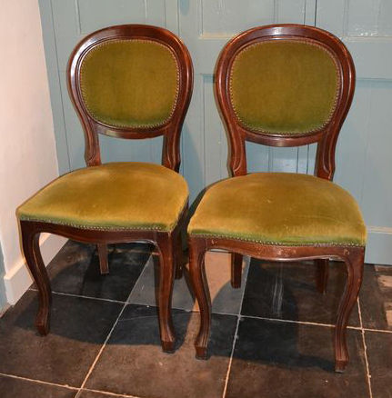 Two equal mahogany biedermeier dining room chairs for Dining room furniture auctions