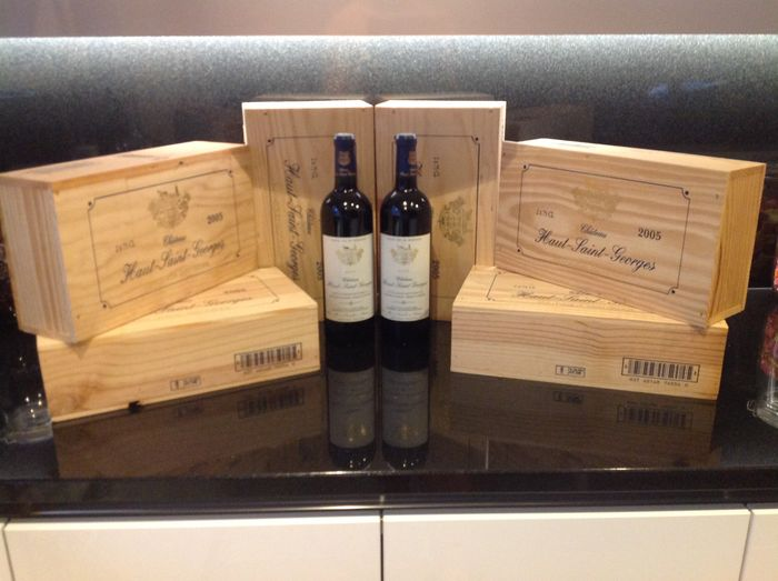 2005 Château Haut St-Georges in wooden crates – (12 bottles 750ml)