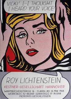 Roy Lichtenstein (after) - Vicki! I thought I heard your voice