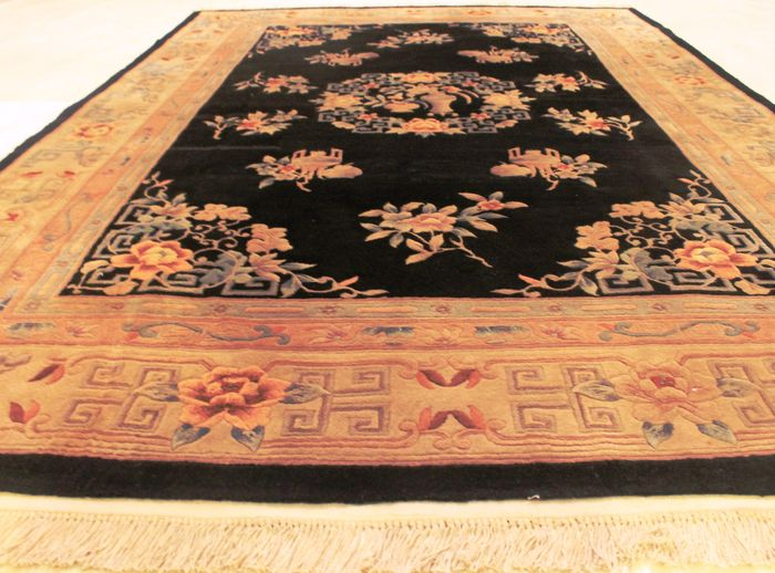 Hermosa alfombra oriental anudada a mano china aubusson for Alfombras chinas