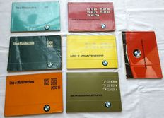 Lot of 7 Owners Manuals BMW