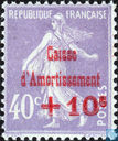 Postage Stamps - France [FRA] - Sower, with overprint