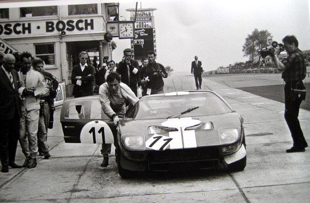 Historic Poster Chris Amon Shelby American Ford Gt