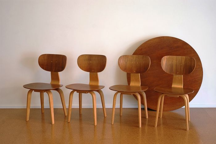 Cool Cees Braakman For Pastoe Dining Room Set 4 X Sb02 Chairs Table Tt05 Catawiki Andrewgaddart Wooden Chair Designs For Living Room Andrewgaddartcom