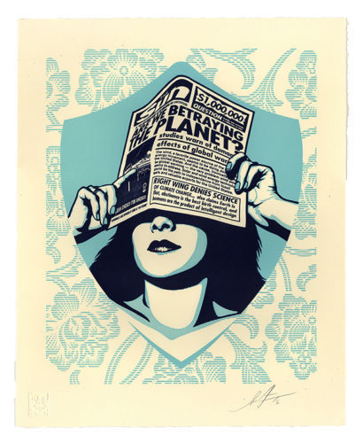Shepard Fairey (OBEY) - Global Earth Crisis Letterpress