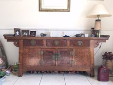 Sideboard in beechwood burl - China, Shanxi - second half of the 20th century (190 cm)