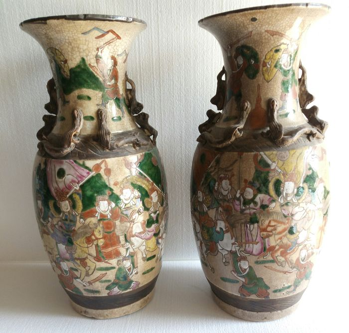 Pair Of Decorated Vases China Late 1800 Catawiki
