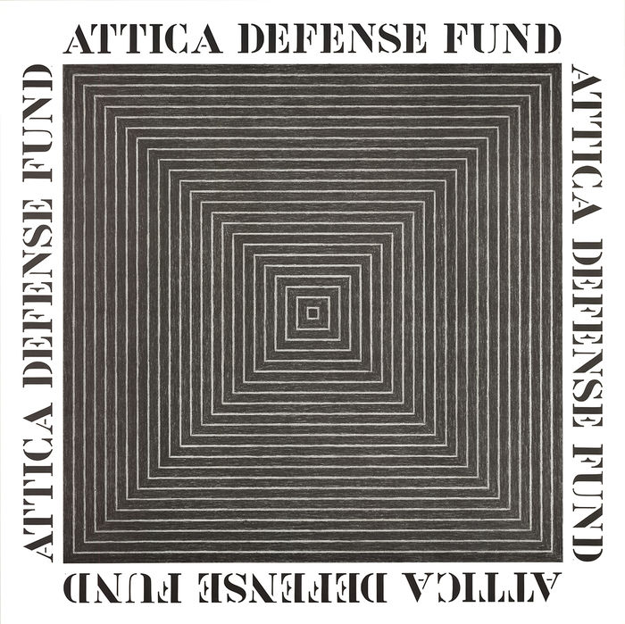 Frank Stella - Attica Defense Fund - 1972