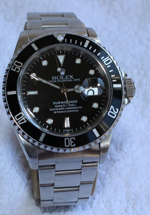 539e00105c48 Rolex Submariner Date 16610 Oyster Perpetual – Men s Watch – 1999s ...