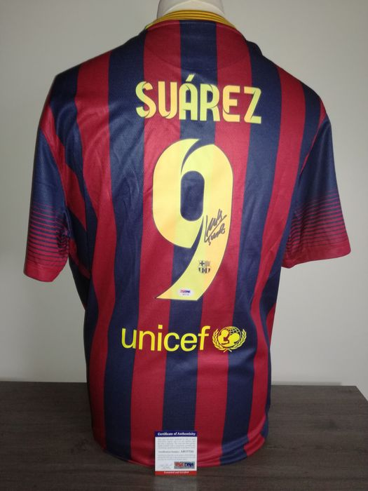 cf6f0ac9306 Hand signed Fc Barcelona home shirt 2013-2014 PSA/DNA certified Luis Suarez  +