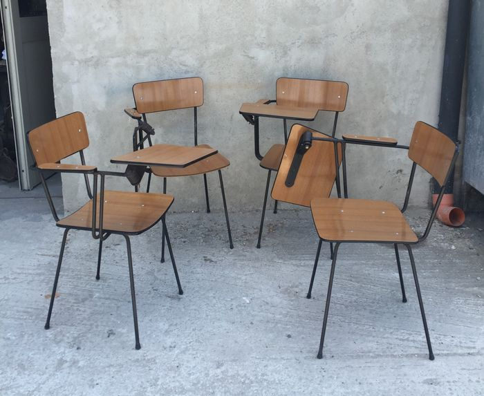 4 Formica School Chairs