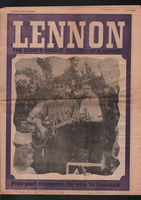 Five Rare Supplements Issued With The Liverpool Echo On The Days Just After John Lennon's Murder. Plus A 20th Anniversary Of His Death Supplement.