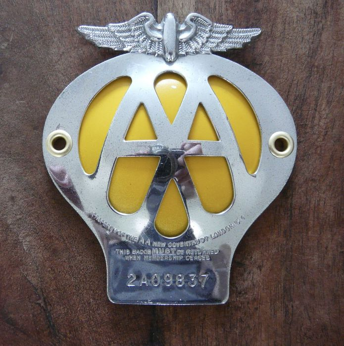 Badges & Mascots Vehicle Parts & Accessories Vintage Aa Badge
