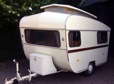 Otten - type Speurder - classic caravan with tiltable roof - 270 x 186 cm (manufacturing year 1966)