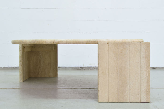 Travertine coffee table with an unusual shape catawiki for Nfpa 99 table 5 1 11