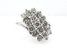 Gold diamond ring, approx. 1.0 ct