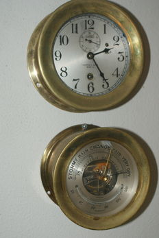 Chelsea ship clock & barometer – first half 20st century
