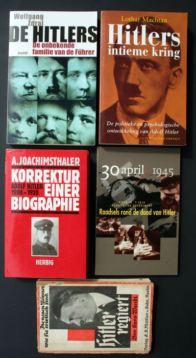 Adolf Hitler; Lot of 5 books about the Führer of the Third Reich - 1933/2006