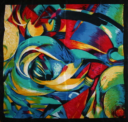 Picasso and Franz Marc - Lot of 2 scarves featuring German modern