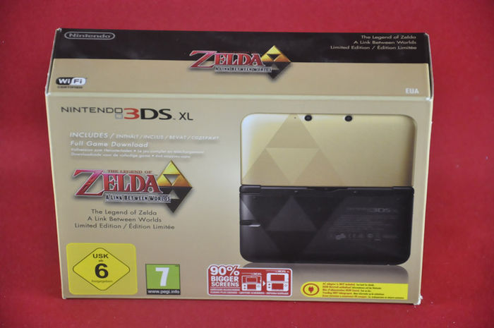 nintendo 3ds xl console zelda limited edition factory. Black Bedroom Furniture Sets. Home Design Ideas