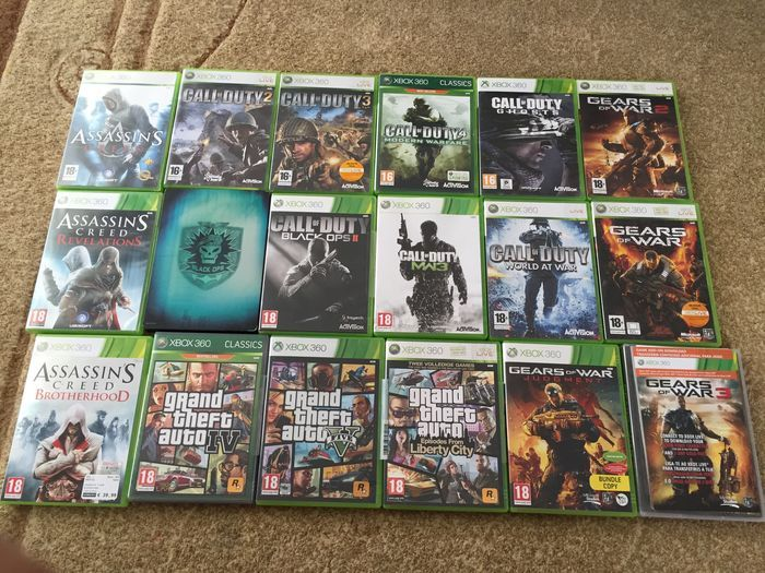 Lot Of 21 Xbox 360 Games Assassin S Creed Gta Cod Catawiki