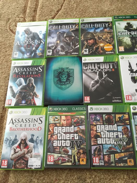 Lot Of 21 Xbox 360 Games Assassin S Creed Gta Cod Gears Of