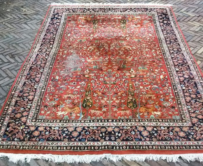 grand tapis indien sarouk 20 me si cle catawiki. Black Bedroom Furniture Sets. Home Design Ideas