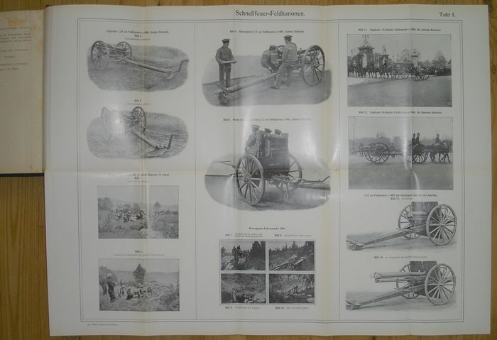 Artillery; Lot with 2 books about German canon manufacturers - 1908/1914