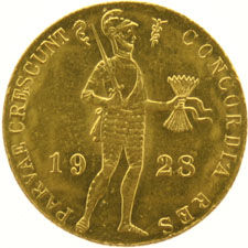 The Netherlands – Ducat 1928 Wilhelmina gold
