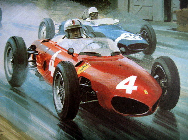 Fine Art Print - Ferrari Sharknose #4/Wolfgang von Trips Winner British Grand Prix Aintree - 1961