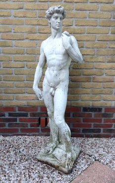 A large stone sculpture of David - second half 20th century
